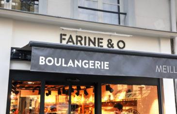 Farinéo boulangerie à Paris, vue extérieur, enseigne store banne noir design en collaboration Pep's et le Studio Frvr.