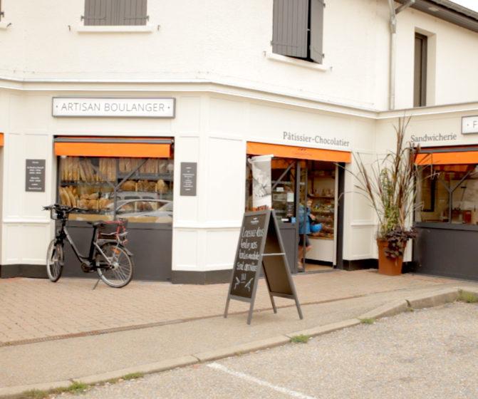 concept campaillette boutique nancy façade vue générale entrée sortie ardoise extérieur store banne orange