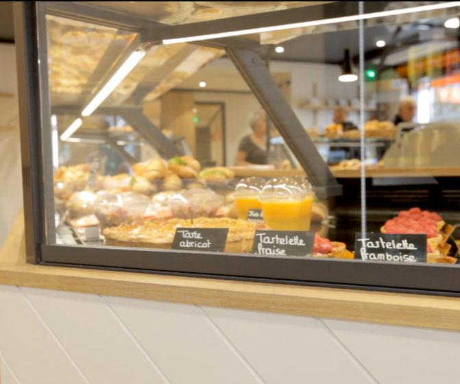 concept campaillette boutique nancy détail vitrine réfrigérée bois