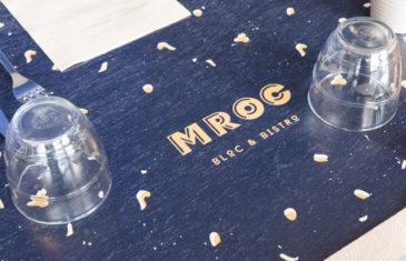 mroc bloc et bistrot plateau table impression sur bois logo conception studio frvr