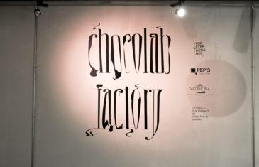 sticker typographie chocolat