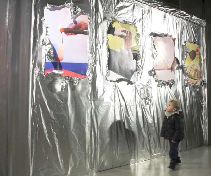 mur aluminium décoration