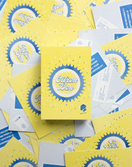 flyer jaune pour soirée événementielle sur le citron