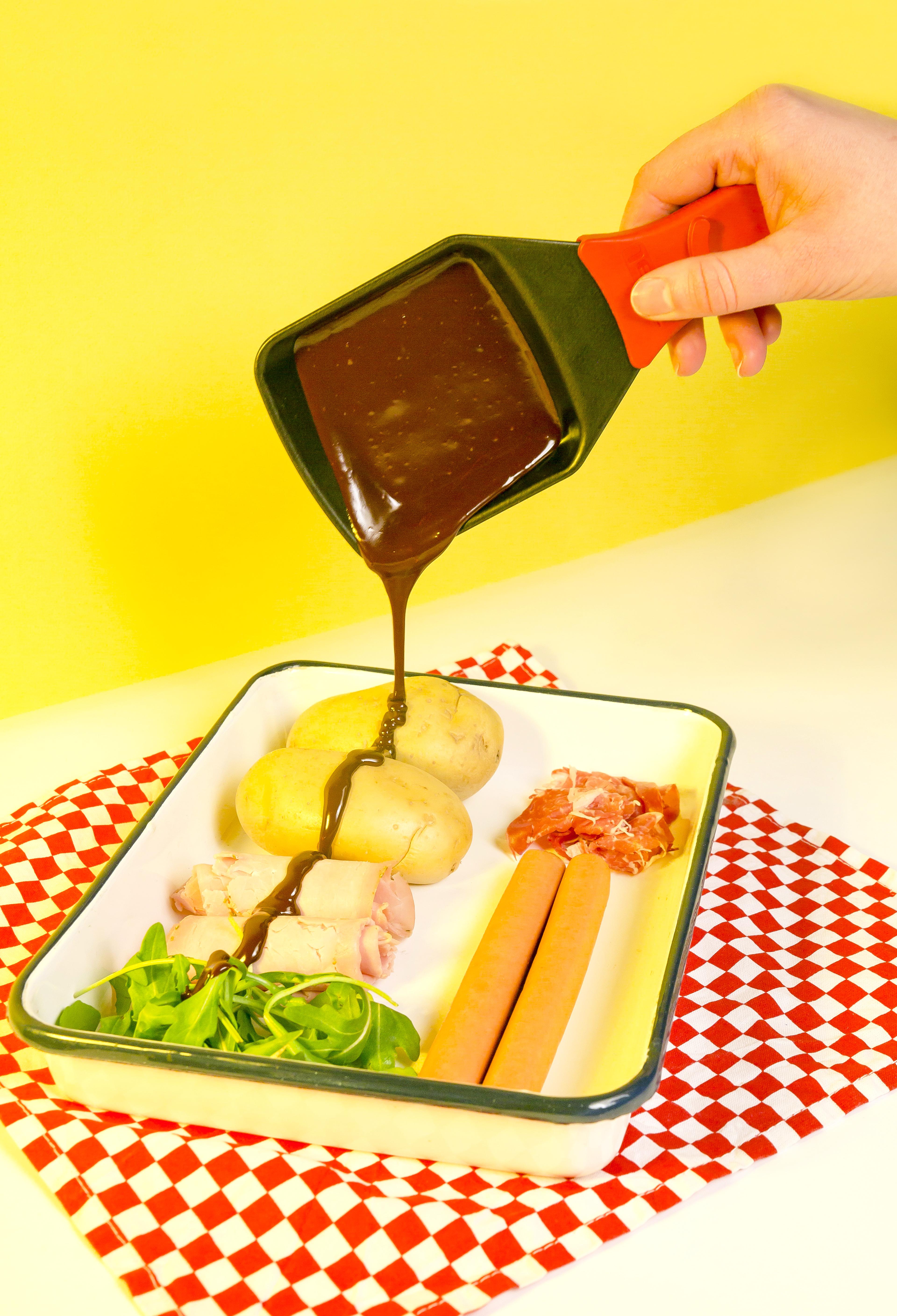 raclette chocolat fondu photoshooting