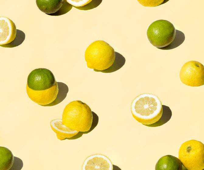 motif photo citrons jaune et vert