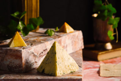 beurre sculpté pyramide