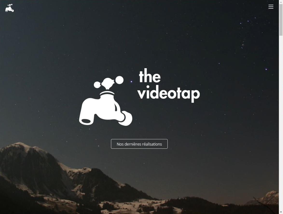 page accueil videotap logo