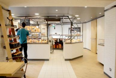 boutique Campaillette vue sur le kiosque concept store retail design par le studio frvr