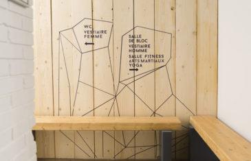 mroc bloc et bistro signalétique vestiaire homme femme wc architecture design d'espace studio frvr