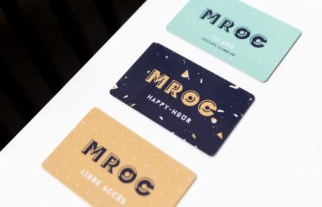 mroc bloc et bistrot carte d'abonnement design logo identité visuelle studio frvr