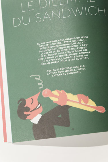 studio frvr direction artistique extrait pepzine sandwich jambon beurre illustration