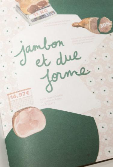 studio frvr direction artistique extrait pepzine jambon motif typo illustration