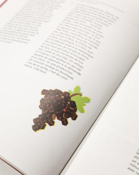 studio frvr direction artistique extrait pepzine grappe chocolat illustration