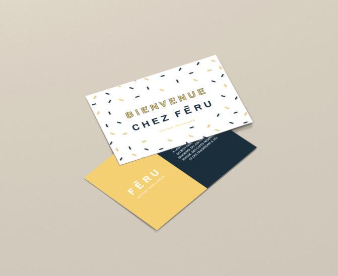 carton invitation féru boulangerie patisserie