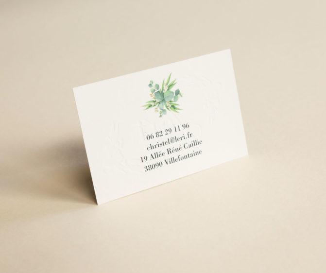 cartes de visite embossage lyon
